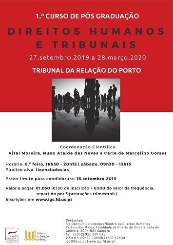 1.º curso de Pós-graduação em Direitos Humanos e Tribunais – Porto